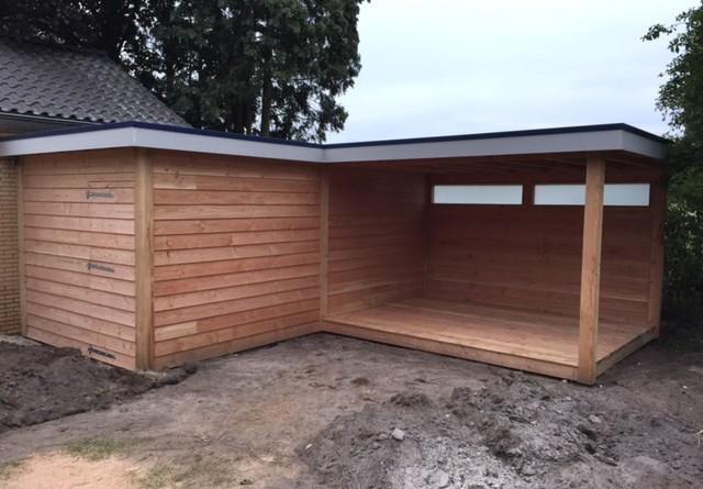 Veranda schuur Douglas-hout Hendriksen Bouw